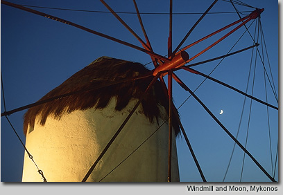 Windmill and Moon, Mykonos