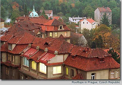 Rooftops in Prague, Czech Republic